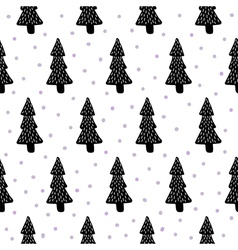 pine trees pattern vector image vector image