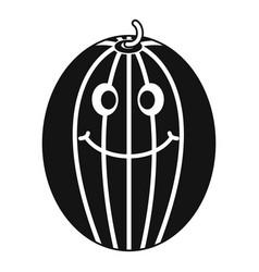 ripe smiling melon icon simple vector image