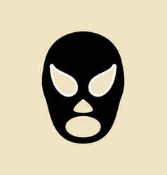 simple graphic of a wrestler mask vector image