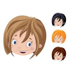 smiling head of girl vector image vector image