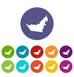 United Arab Emirates map set icons vector image