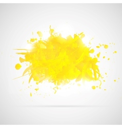 Abstract background with yellow paint splashes vector image vector image