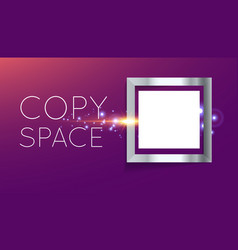 abstract silver frame in square vector image