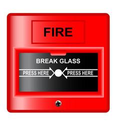 break glass vector image