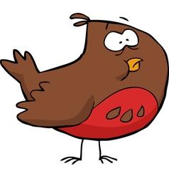 brown bird vector image vector image