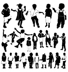 children vector image vector image