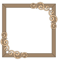 Decorative ornate frame vector image