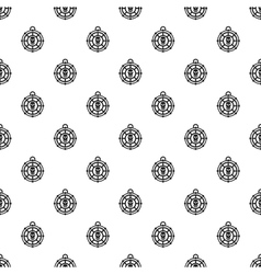 Human skull amulet pattern simple style vector image vector image