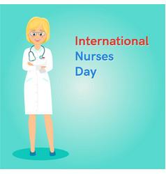 international nurses day banner vector image