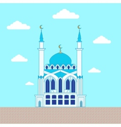 Mosque Flat design building poster template vector image