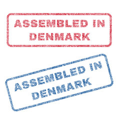 assembled in denmark textile stamps vector image vector image