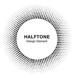 Black Abstract Halftone Circle Logo Design Element vector image vector image