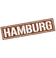 hamburg brown square stamp vector image vector image