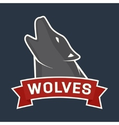 howling wolf mascot vector image vector image