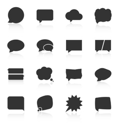 Set of speech bubble icons on white background vector image