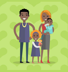 family concept in flat design vector image vector image