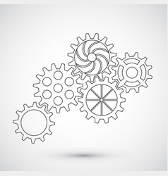 gears on white background infographic concept vector image vector image