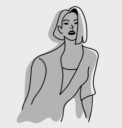 sexy female model with shadow vector image