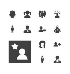 13 avatar icons vector