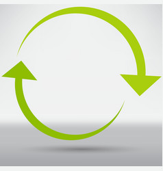 abstract arrow icon vector image
