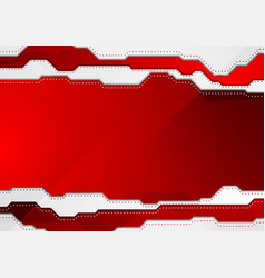 Abstract bright red hi-tech background vector