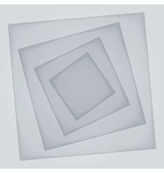 Abstract light grey rectangle paper shapes vector image