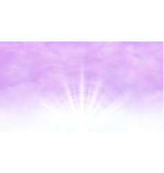 Abstract of sunburst with clear pink sky vector