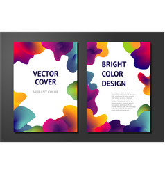abstract posters with liquid paint elements vector image