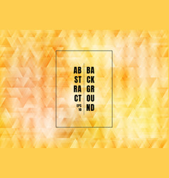 abstract yellow triangles pattern overlapping vector image