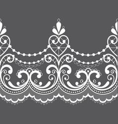 alencon french seamless lace pattern openw vector image