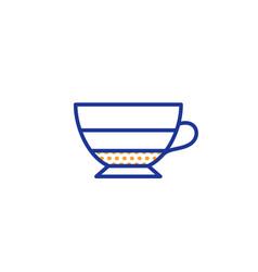Americano coffee icon hot drink sign vector