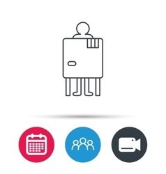 Beach changing cabin icon Human symbol vector image