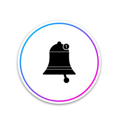 bell icon isolated on white background new vector image