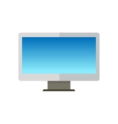 Blue Computer Monitor in Flat vector image