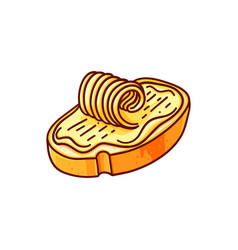 bread and butter color vector image