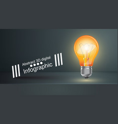 bulb business infographic black studio vector image