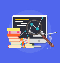 Business college education library course online vector
