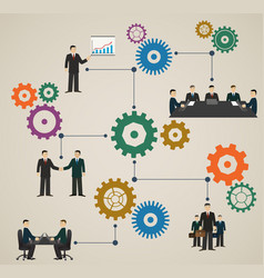 business concept with people and gear vector image