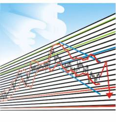 business loss graphs vector image