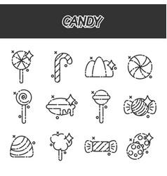 Candy cartoon concept icons vector