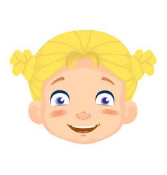 caucasian girl character vector image