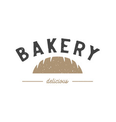 chocolate bakery vintage logo design inspiration vector image