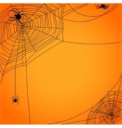 Cobweb with spiders vector