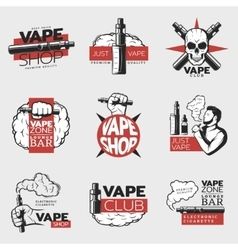 Colorful Electronic Cigarette Logos vector