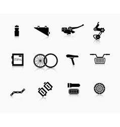 Components and accessories for the bike vector