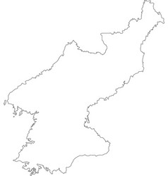 contour map of south korea map black outline nort vector image