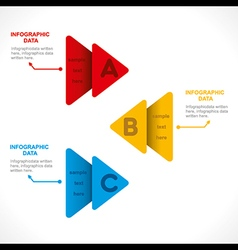 creative colorful arrow info-graphics design conce vector image