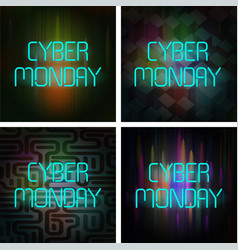 Cyber monday poster set vector