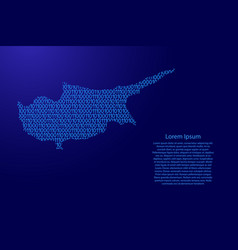 cyprus map abstract schematic from blue ones and vector image