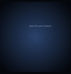 dark blue abstract gradient background stripd vector image